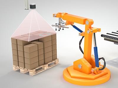 Automated depalletizing and box dimensioning with ifm O3D Smart Sensor